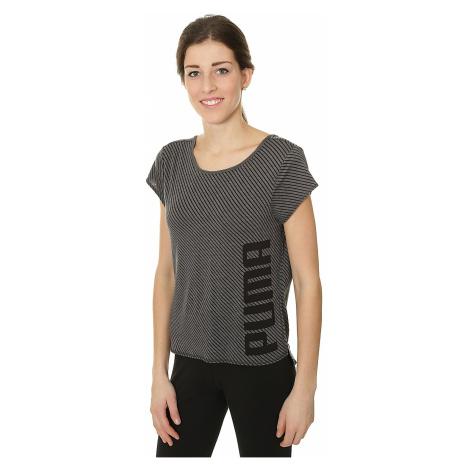 koszulka Puma Dancer Drapey - Puma Black/Heather Stripe