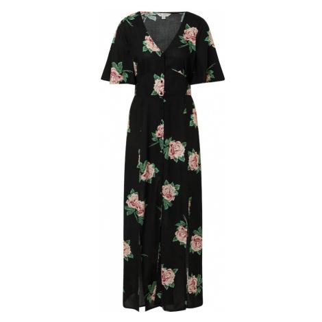 Miss Selfridge Sukienka koszulowa czarny / różowy pudrowy