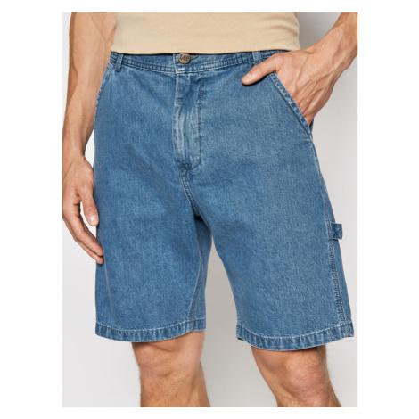 Lee Szorty jeansowe Carpenter L73XMMOJ Granatowy Relaxed Fit