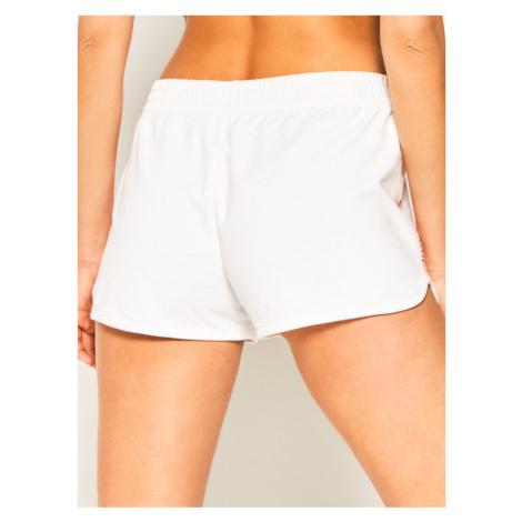 Calvin Klein Jeans Szorty sportowe J20J211589 Biały Slim Fit