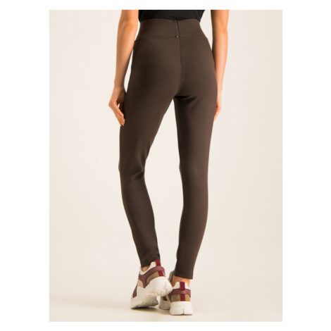 Max Mara Leisure Spodnie materiałowe 37860796 Brązowy Slim Fit