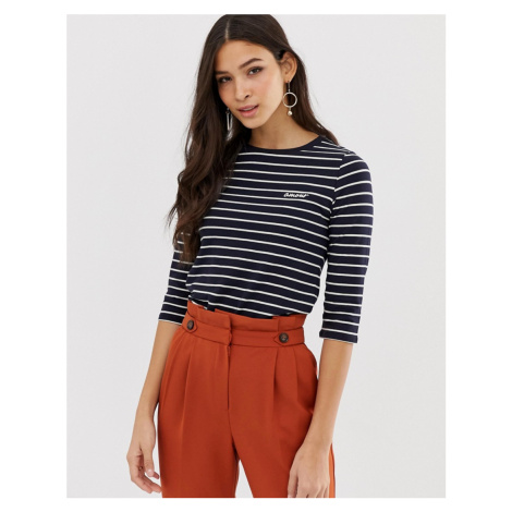 French Connection amour embroidered top