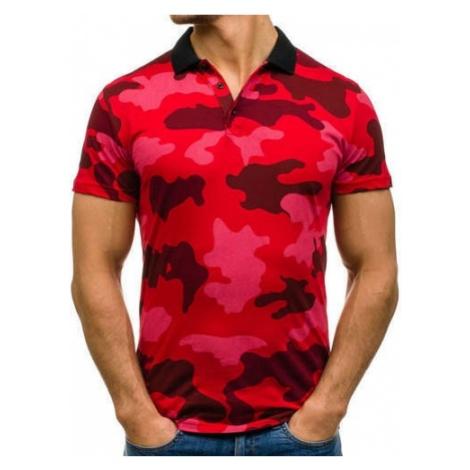 Koszulka polo męska moro-czerwona Denley 1126 ATHLETIC