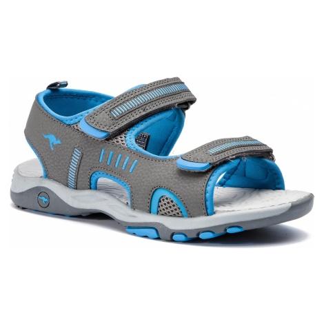 Sandały KANGAROOS - K-Logan 18338 000 2098 D Steel Grey/Blue