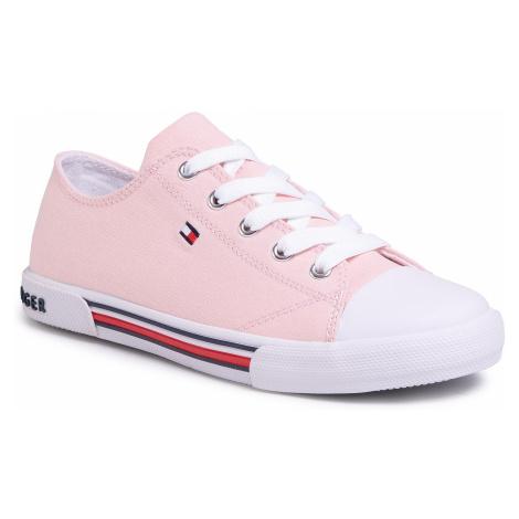 Trampki TOMMY HILFIGER - Low Cut Lace-Up Sneaker T3A4-30605-0890 S Pink 308