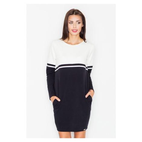 Figl Woman's Dress M510 Black-Ecru