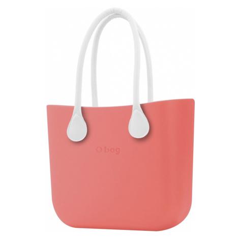 O bag torebka Corallo z długimi białymi uchwytami ze skajki