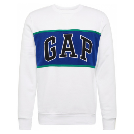 GAP Bluzka sportowa 'V-CB ARCH CREW' biały / niebieski