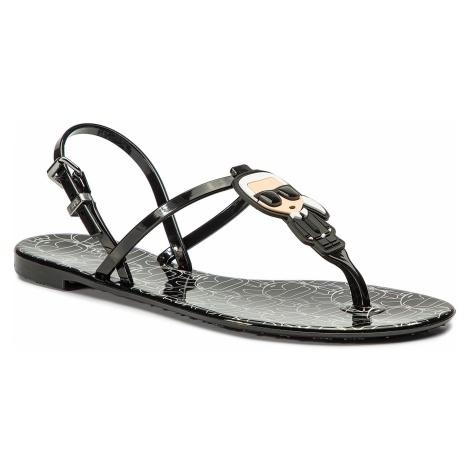 Sandały KARL LAGERFELD - KL80082 Black Rubber