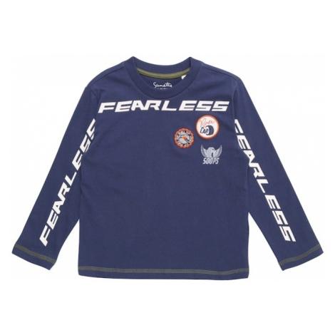 Sanetta Kidswear Koszulka niebieski / oliwkowy / biały
