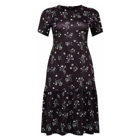 River Island Plus Sukienka czarny / biały