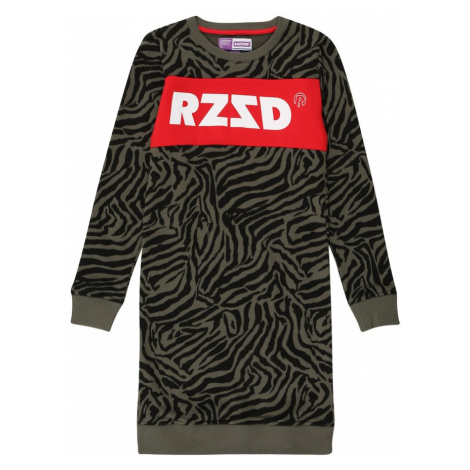 Raizzed Sukienka 'Dublin' khaki / czarny / biały / czerwony