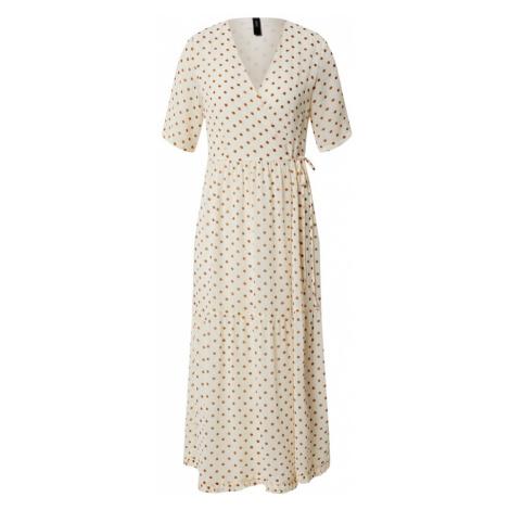 Y.A.S Sukienka 'YASGREENISH' jasnobrązowy / kremowy