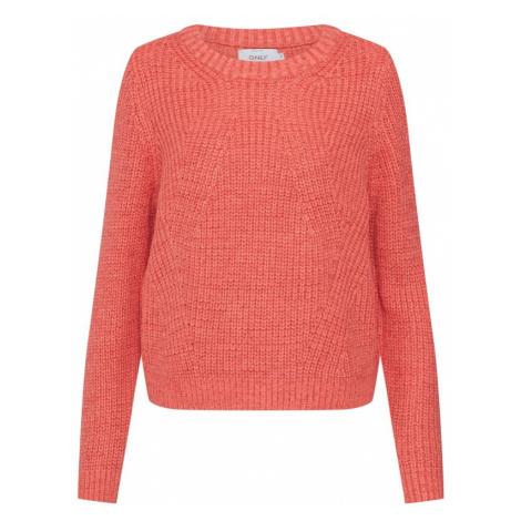 ONLY Sweter 'CELTINA' pomarańczowo-czerwony