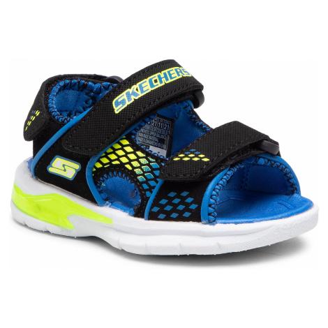 Sandały SKECHERS - Beach Glower 90558N/BBLM Blk/Blue/Lime
