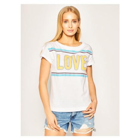 LOVE MOSCHINO T-Shirt W4F301WM 3876 Biały Regular Fit
