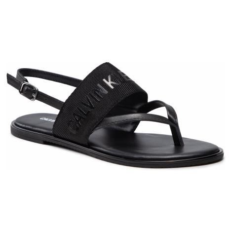 Sandały CALVIN KLEIN JEANS - Flat Sandal Toe Pl YW0YW00025 Black BDS