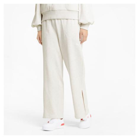 PUMA Damskie Szerokie Spodnie Dresowe HER, Biały Melanż