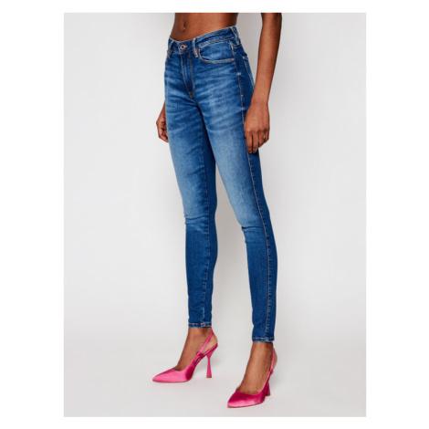 Guess Jeansy Sexy Curve W1RAJ3 D4AO3 Granatowy Skinny Fit