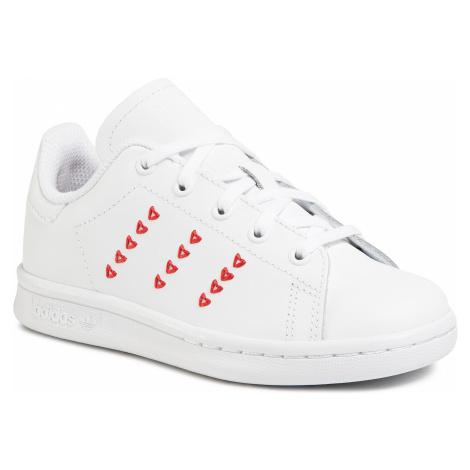 Buty adidas - Stan Smith C EG6500 Ftwwht/Ftwwht/Lusred