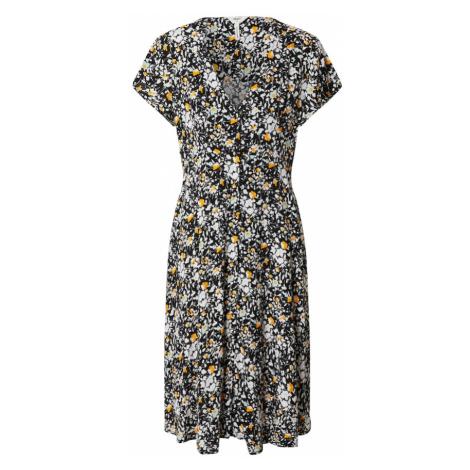 OBJECT Sukienka czarny / biały / żółty