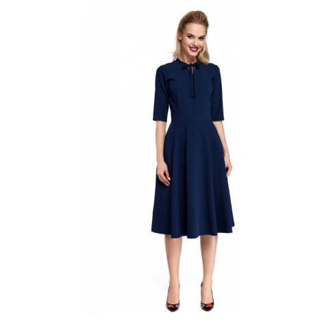 Made Of Emotion Woman's Dress M298 Navy Blue