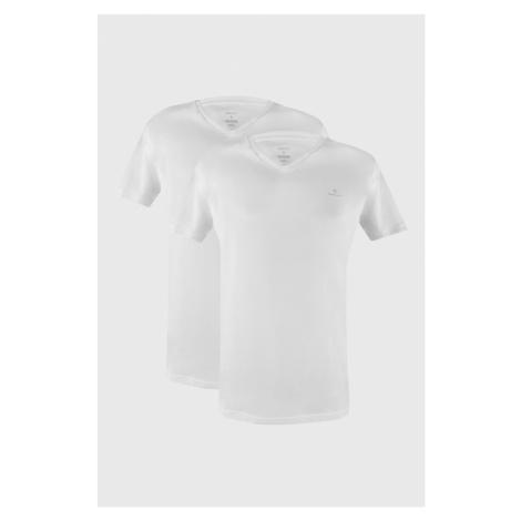 2 PACK białych T-shirtów GANT Basic