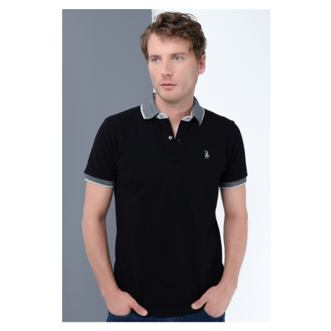 T8566 DEWBERRY MEN's T-SHIRT-BLACK