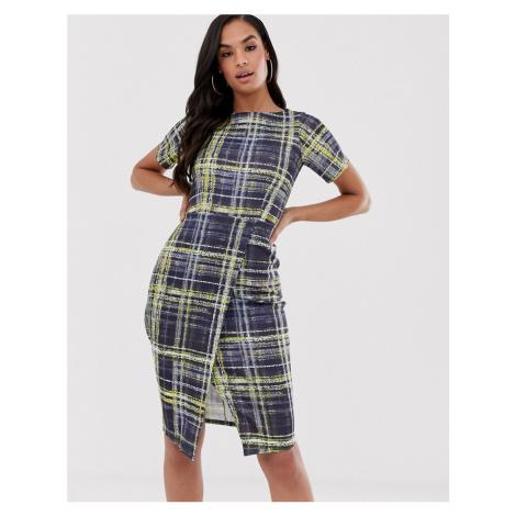 Closet jersey wrap skirt dress