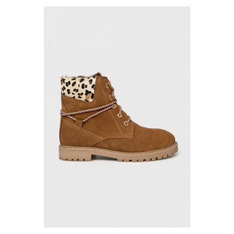 Pepe Jeans - Botki dziecięce Pulp Leopard