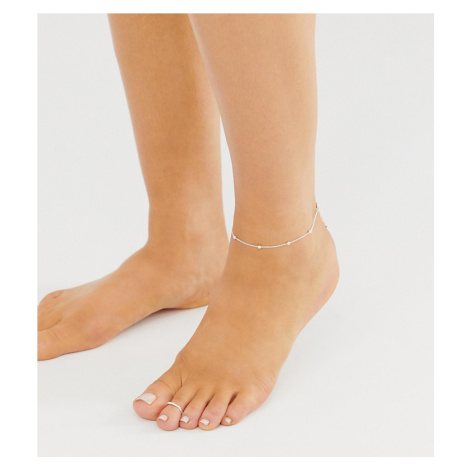 ASOS DESIGN pack of 2 sterling silver anklet and toe ring in dot dash design in silver