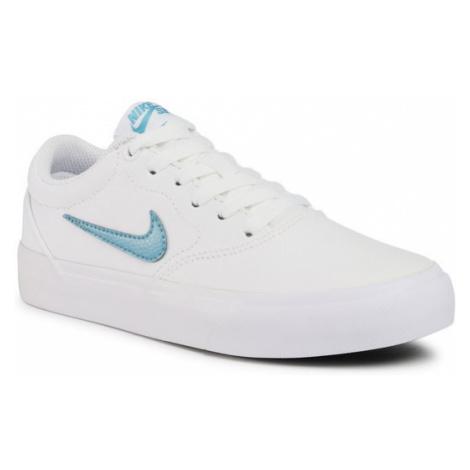 Nike Buty Sb Charge Cnvs (Gs) CQ0260 100 Biały