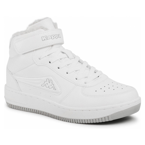 Sneakersy KAPPA - Bash Mid Fur 242799 White/L'Grey 1014