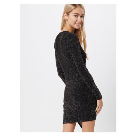 Boohoo Sukienka koktajlowa 'Glitter' czarny