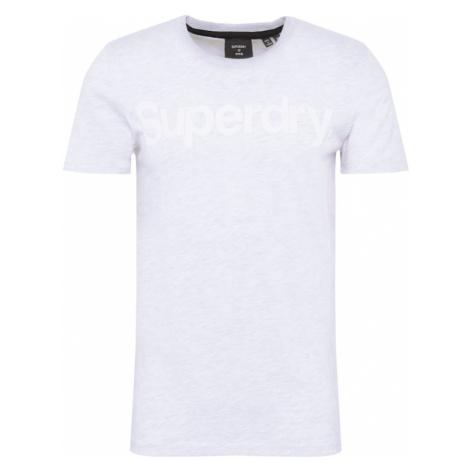 Superdry Koszulka jasnoszary / biały