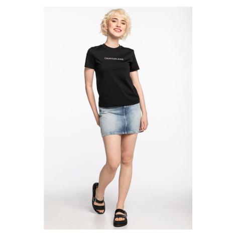 Koszulka Calvin Klein Jeans Z Krótkim Rękawem Shrunken Institutional Tee J20J215322Beh Black