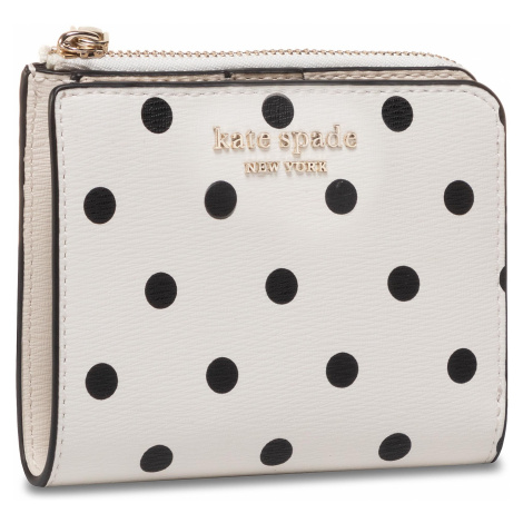 Mały Portfel Damski KATE SPADE - Spencer Cabana Dot PWRU7930 Optic White Multi 141