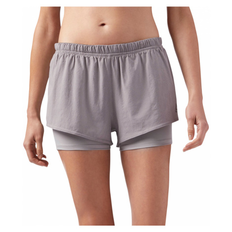 Reebok 2-in-1 Running Shorts W Szary