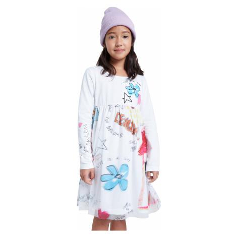 Desigual biała sukienka dziewczęca Vest Zamora
