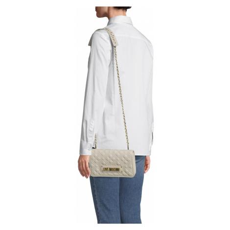 Love Moschino Torba na ramię 'NEW SHINY QUILTED' biały / beżowy