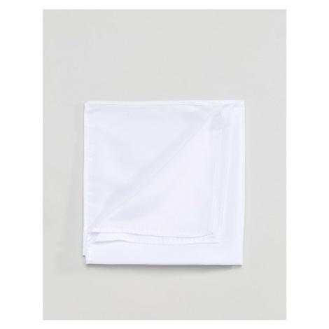 ASOS DESIGN pocket square in white