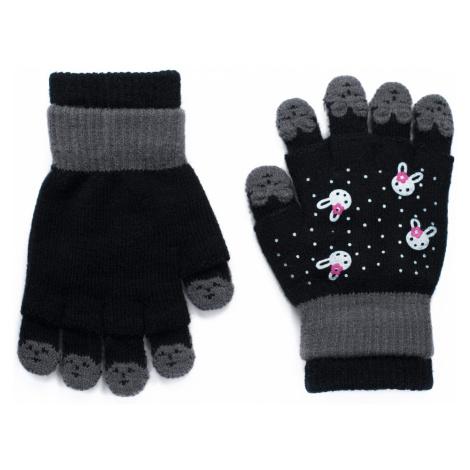 Art Of Polo Kids's Gloves rk19562 Black/Graphite