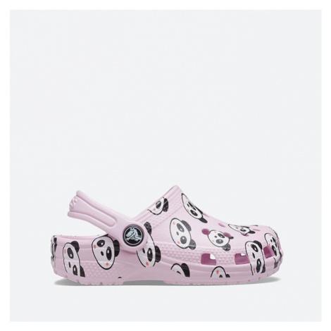 Klapki Crocs Classic Panda Print Clog Kids 206999 BALLERINA PINK