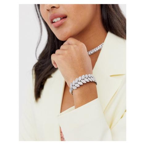 True Decadence rhinestone leaf cuff bracelet