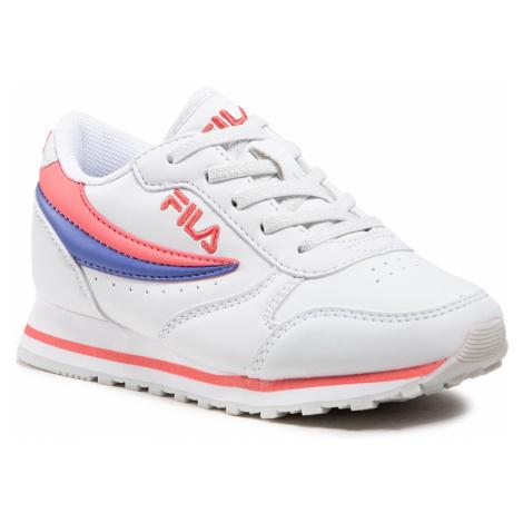 Sneakersy FILA - Orbit Low Kids 1010783.94Q White/Calypso Coral