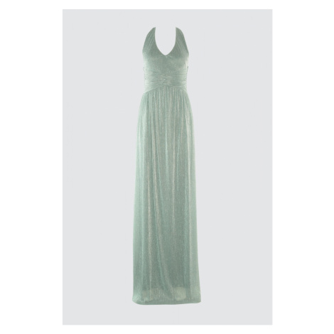 Trendyol Green Glowing Bodice Detailed Evening Dress & Graduation Dress