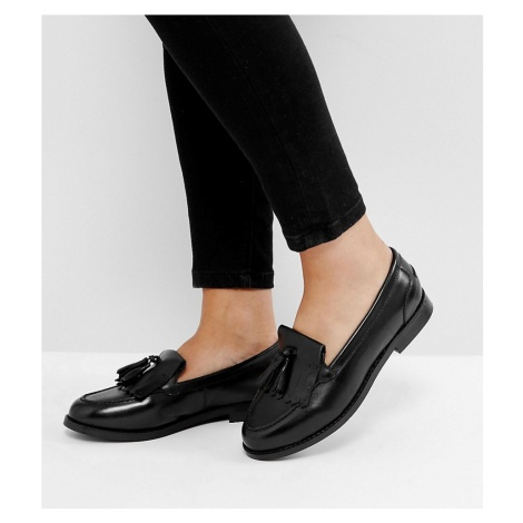 ASOS DESIGN Wide Fit Maxwell leather loafers
