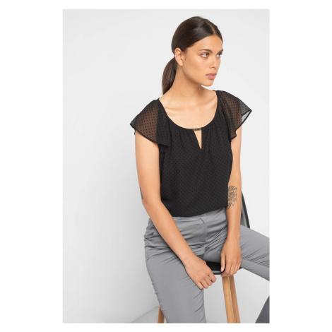 Elegancka koszulka w kropki Orsay