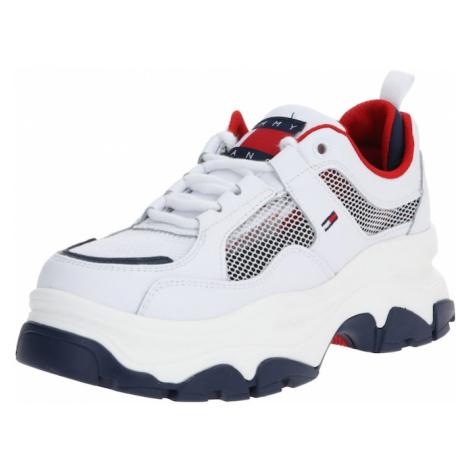 Tommy Jeans Trampki niskie biały / ciemny niebieski / czerwony Tommy Hilfiger