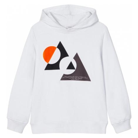 NAME IT Bluza 'Nait' pomarańczowy / biały / czarny / ciemnoszary